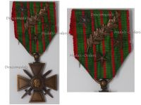 France WWI War Cross 1914 1916 with 4 Citations Palms 3 Stars (1 Silver 2 Bronze)
