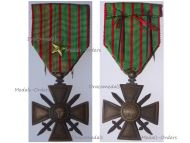 France WW1 War Cross 1914 1916 with 1 Citation Gold Star