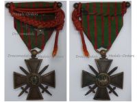 France WWI War Cross 1914 1916 with 3 Citations 3 Stars (2 Bronze 1 Silver) Fourragere & Officer's Bar