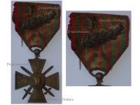 France WWI War Cross 1914 1917 with 2 Citations Palms Bronze Star