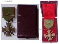 France WWI War Cross 1914 1918 with 1 Citation Bronze Star Boxed