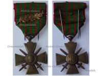 France WWI War Cross 1914 1918 with 1 Citation Palms