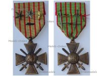 France WWI War Cross 1914 1918 with 4 Citations Palms 3 Stars (1 Bronze 1 Silver 1 Gold)