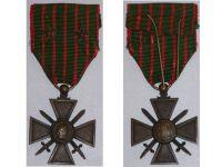 France WWI War Cross 1914 1915 with 2 Citations 2 Stars (Bronze)