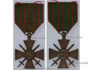 France WW1 Medal War Cross Croix Guerre 1914 1915 Military Medal Decoration French WWI 1918 Great War
