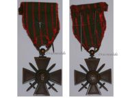 France WW1 Medal War Cross Croix Guerre 1914 1915 silver star Decoration French WWI 1918 Great War