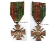 France WW1 Medal War Cross Croix Guerre 1914 1917 with 2 stars Decoration French WWI 1918 Great War