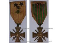 France WWI War Cross 1914 1917 with 4 Citations 4 Stars (1 Bronze 3 Silver)