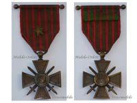France WWI War Cross 1914 1917 with 1 Citation Bronze Star & Officer's Bar