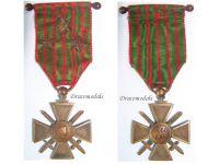 France WWI War Cross 1914 1918 with 3 Citations 3 Bronze Stars & Officer's Bar