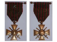 France WW1 Medal War Cross Croix Guerre 1914 1918 with 3 stars Decoration French WWI Great War Local