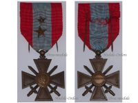 France War Cross TOE for Overseas Operations with 2 Citations 2 Stars (1 Bronze 1 Silver)