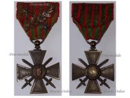 France WWI War Cross 1914 1915 with 3 Citations Palms 2 Stars (1 Bronze 1 Silver)