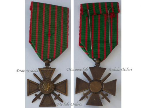 France WW1 Medal War Cross Croix Guerre 1914 1918 Military Medal Decoration French WWI Great War Unifacial Type
