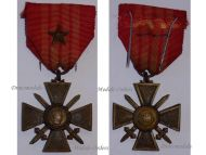 France WW2 War Cross Croix de Guerre LONDON type star 1939 1940 Military Medal WWII French Decoration Merit Award