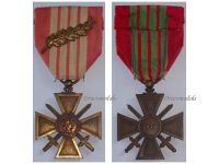 France WW2 War Cross Croix de Guerre 1939 palms Military Medal WWII 1945 French Decoration Merit Award
