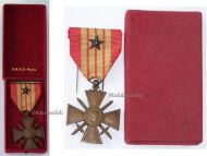 France WW2 War Cross Croix de Guerre 1939 star Military Medal WWII 1945 French Decoration SNAG Boxed