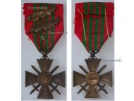France WW2 War Cross Croix de Guerre 1939 star 2 palms Military Medal WWII 1945 French Decoration Award