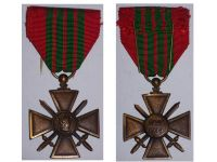 France WW2 War Cross Croix de Guerre 1939 1945 Military Medal WWII French Decoration Merit Award