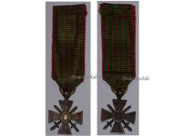 France WW2 War Cross Croix de Guerre 1939 1940 Military Medal WWII French Decoration MINI