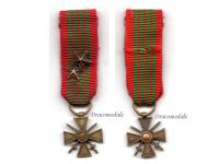 France WW2 War Cross Croix de Guerre LONDON 2 stars Military Medal WWII 1945 French Decoration MINI
