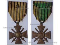France WWII War Cross 1939 1940 with 1 Citation Bronze Star (French Government of Vichy)