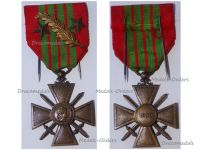 France WWII War Cross 1939 with 3 Citations (Palms and 2 Bronze Stars)