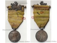 France 2nd Madagascar Campaign Medal with Clasp 1895 & Officer's Bar by Roly 1st Type with Rare Suspender