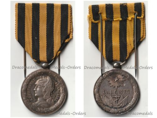 France 1st & 2nd Dahomey Campaign Commemorative Medal 1890 1892 by Dupuise