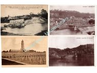 France WW1 4 Postcards Military Cemetery Memorial Douaumont Destroyed Bridge Dinant Lagny French Photo 1914 1918 Great War WWI