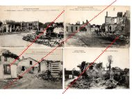 France WW1 4 Field Post Photo postcard Destroyed Souain Marne Revigny Meuse French postcards 1914 1918 Great War WWI