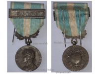 France WWI Colonial Medal with Clasp Maroc Intermediate Type by Lemaire