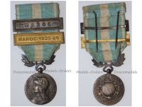 France WWI Colonial Medal with Clasps Maroc & Maroc 1925-26  Intermediate Type Unofficial