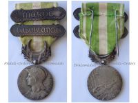 France Morocco Campaign Medal 1908 with Clasps Casablanca & Maroc by Lemaire