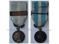 France WWI Colonial Medal with Clasp Maroc 1925 Intermediate Type by Lemaire