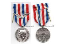France Civil Aviation Silver Aeronautical Medal Honor 30 years Service 1978 Decoration French Award Paris Mint