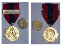 France National Defense Medal 1982 Bronze Class with Bar Airborne Troops