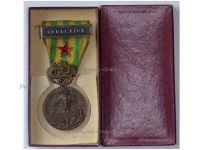 France Indochina War Medal 1945 1953 with Bars Indochine Combat Wound Red Star Boxed