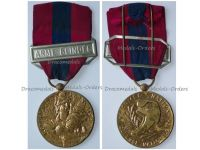 France National Defense Medal 1982 Bronze Class with Bar Armored Troops