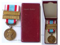 France North Africa Medal for Security and Order Operations with Clasps Algeria Morocco 1st Type Boxed