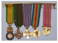 France WW1 Victory War Combatants Cross Valor Discipline Military Medals set French Decoration 1914 1918 MINI
