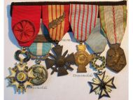France WW2 Officer Legion Honor War Cross Black Star Benin Military Medals set French Decorations 1940 1945