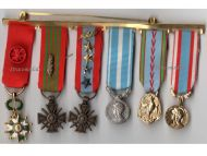 France WW2  Officer Legion Honor War Cross TOE 1939 1945 Africa Military Medals Colonial set French MINI