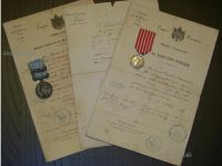 France Set of Medals & Diplomas of an Infantry Captain (British Crimea Medal with Bar Sebastopol, French Italian Campaign Medal 1860)