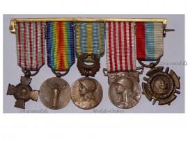 France WW1 Combatant Cross Victory Morlon Orient Commemorative Serbia Medals set WWI 1914 1918 Decorations MINI