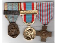 France WW2 Commemorative North Africa Algeria Combatants Cross Military Medals set Colonial Wars French
