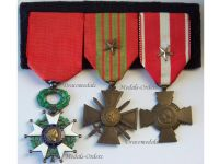 France WW2 Knight Legion Honor WWII War Cross Valor Star Military Medals set French Decorations 1939 1945