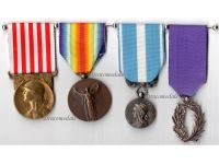 France WW1 Victory Knight Order Academic Palms Colonial Military Medals Set WWI 1914 1918 French Decoration