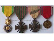 France WW1 Valor Discipline War Cross Verdun Military Medals set WWI 1914 1918 French Decoration WWII 1939