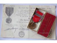 France WW1 Verdun medal 1916 on ne passe pas WWI 1914 1918 Vernier Ball Type Cased Diploma Warrant Officer Zuaves Infantry